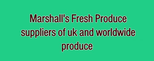 Marshall's Fruit & Veg  Logo