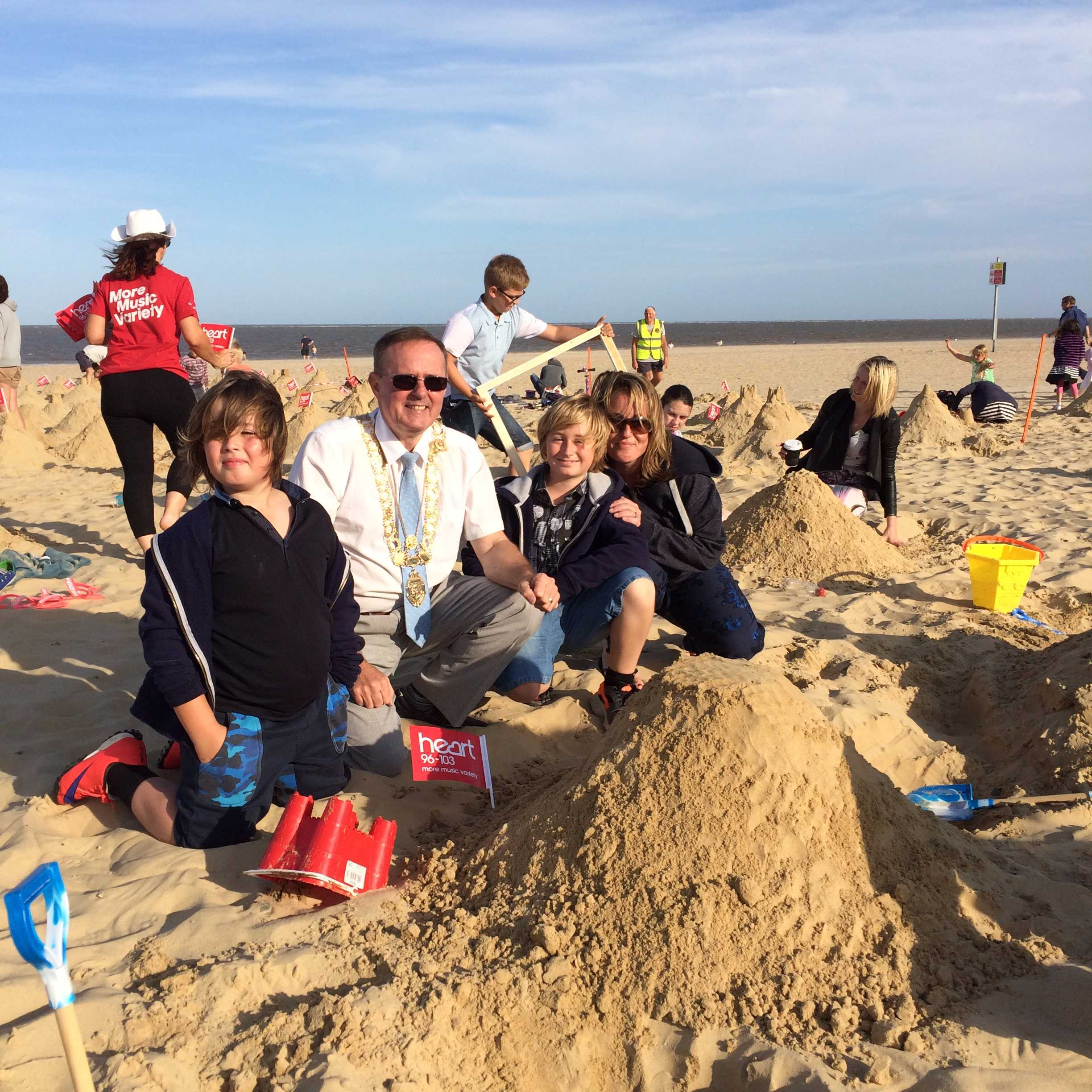 Lowestoft Summer Festival - Sandcastle record attempt Image 2