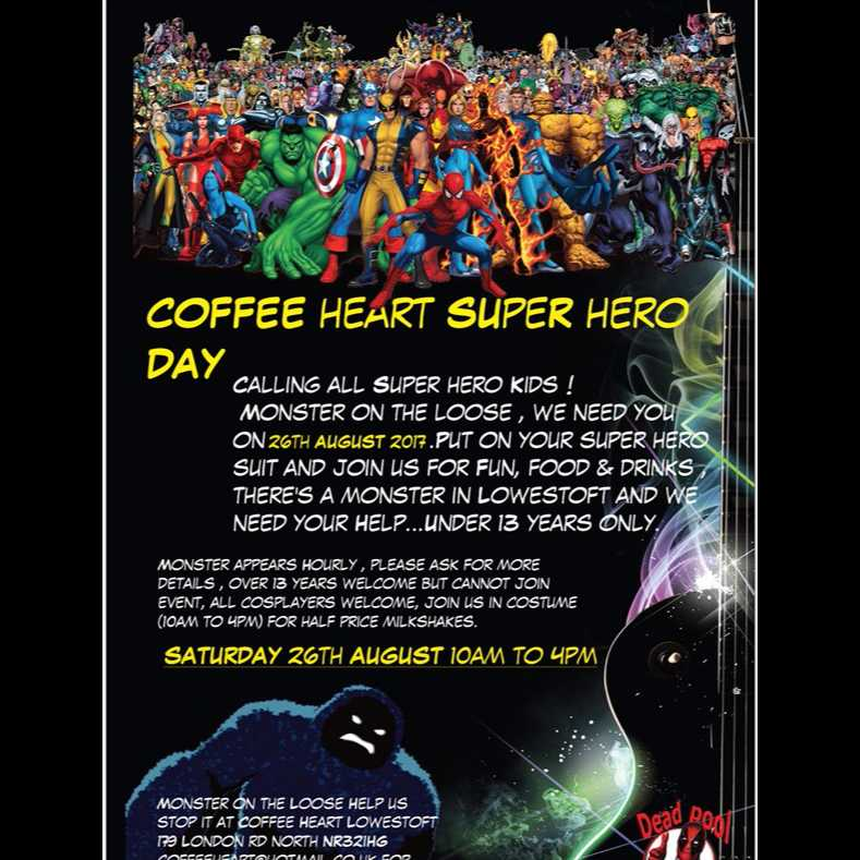 Coffee Heart SUPERHERO DAY  Image