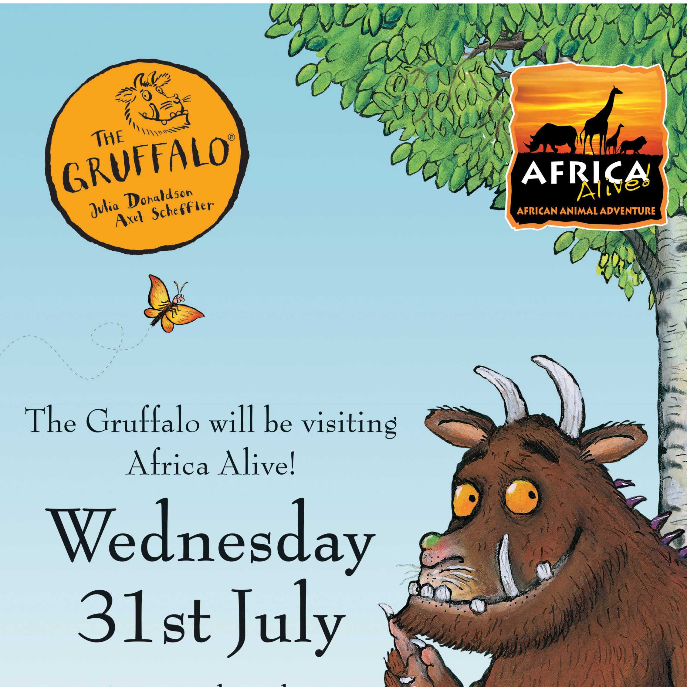 Gruffalo comes to Africa Alive! Image