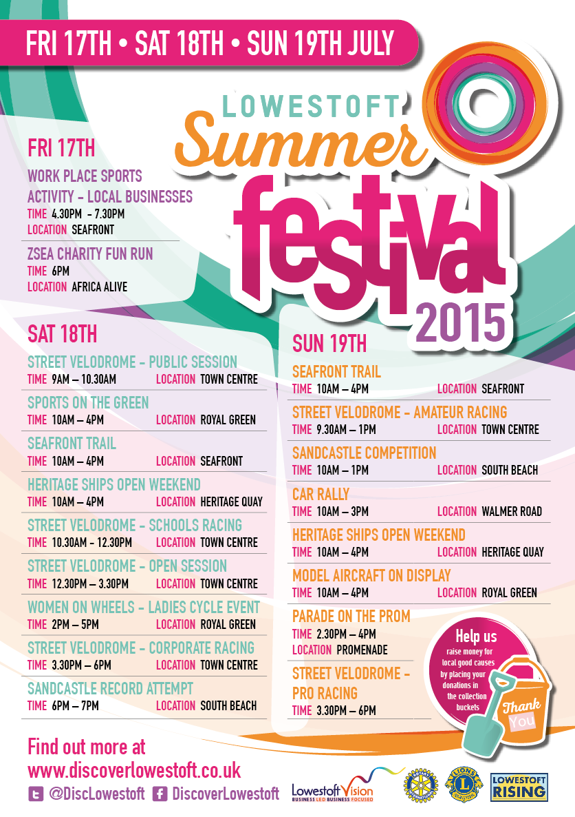 Lowestoft Festival Schedule